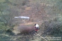 The fire caught in Karahunj village was self-extinguished