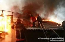 Вследствие пажара сгорели деревянные конструкции пекарни