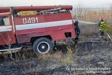 Пожар, вспыхнувший в поле возле села Норамут, потушен