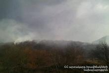 Пожар, вспыхнувший возле автодороги Горис-Воротан, самоликвидировался