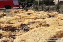About 400 bales of hay in Lusakunk village burnt