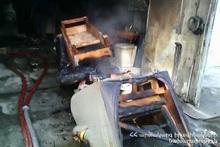 Fire in a garage