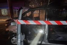 ՃՏՊ Գյումրի քաղաքում. ավտոմեքենան բախվել է սյանը և բռնկվել