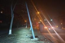Ավտոմեքենան բախվել է գազատար խողովակի հենասյանը