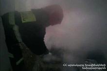 Сгорел деревянный пол здания