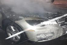 Ամբողջությամբ այրվել է ավտոմեքենայի շարժիչի հատվածը
