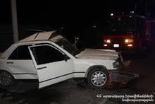 Ավտոմեքենան բախվել է ճանապարհի արգելապատնեշին. տուժածներ չկան