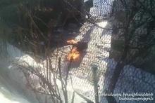 Произошла утечка газа с возгоранием из газового баллона