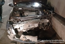 Rescuers disconnected the automotive battery of a car