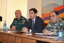 Араратское региональное спасательное управление СС подвело итоги года: на мероприятии присутствовал губернатор Араратского региона Гарик Саргсян