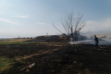 Firefighters extinguished fire broken out in grasslands with a total area of about 2 hectares