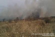 Fire in Aygehovit village
