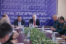 Лорийское региональное спасательное управление подвело итоги года: на мероприятии присутствовал губернатор региона Лори Андрей Гукасян