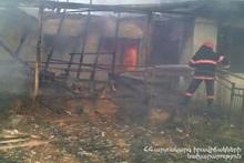 Пожар, вспыхнувший в селе Брнакот, потушен