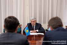 Феликс Цолакян принял чрезвычайного и полномочного посла Республики Казахстан в Армении Тимура Уразаева