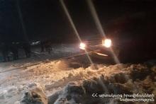 На автодороге Сотк-Карвачар спасатели вытащили из блокировки около 250 автомобилей 1000 пассажиров