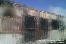 Fire in a trailer-home: there were no casualties