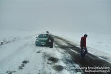 Some roads in Armenia are closed and difficult to pass: drivers are recommended to drive exclusively on winter tires