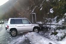 Ավտոմեքենան դուրս է եկել ճանապարհի երթևեկելի հատվածից և բախվել գազատար խողովակին