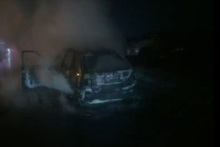 Car was completely burnt