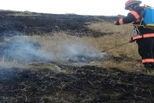 Firefighters extinguished fire broken out in grasslands with a total area of about 2.5 ha