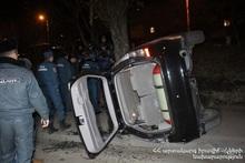 Ավտոմեքենան դուրս է եկել ճանապարհի երթևեկելի հատվածից և կողաշրջվել. տուժածները հոսպիտալացվել են