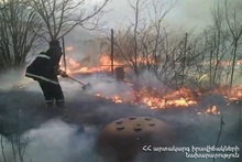 The fire broken out in Metaghagortsner street of Ijevan town was extinguished