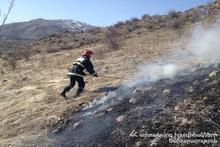 В городе Ташир сгорел травяной покров
