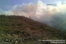 Пожар возле села Воротан: сгорело около 10 га растительного покрова