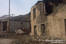 A residential building collapsed in Artavaz village