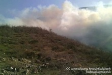 Fire near Vorotan village: about 10 ha of vegetation were burnt
