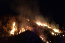Firefighters extinguished fire broken out in grasslands with a total area of about 7.2 ha