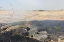 Firefighters extinguished fire broken out in grasslands with a total area of about 2000 square meters