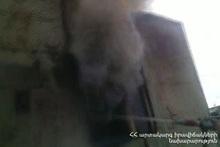 Fire in Zartonk village: a wagon-cabin burnt