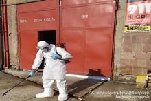 Территории пожарно-спасательных отрядов дезинфицируются