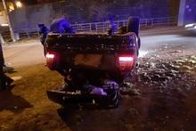 Մյասնիկյան պողոտայում ավտոմեքենա է շրջվել. տուժածներ չկան
