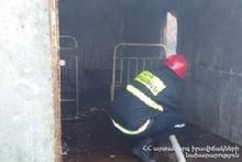 В селе Арзакан сгорел домик
