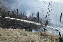 Firefighters extinguished fire broken out in grasslands with a total area of about 1.7 ha