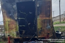 Fire in a trailer home: there were no casualties