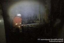 Household items burnt in a building