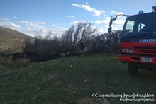 Firefighters extinguished fire broken out in grasslands with a total area of about 7 ha