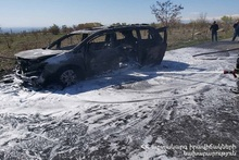 Car was on fire: there were no casualties
