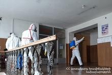 МЧС провело дезинфекцию в Варденисе