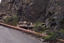 Քարաթափում Ախթալա-Շամլուղ ավտոճանապարհին