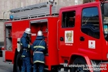 Пожар в городе Абовян: пострадавших нет