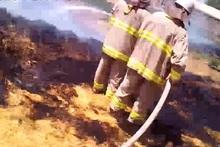 В городе Варденис сгорели тюки сена