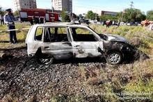 Сгорел автомобиль: есть погибший и пострадавшие