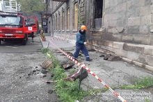 Rescuers removed the weakened stones