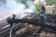 Пожар в селе Аргел