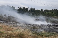 Firefighters extinguished fire broken out in grasslands with a total area of about 3 ha